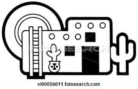 Pueblo houses clip art. Adobe clipart dwelling