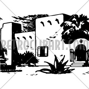 Retroclipart com . Adobe clipart hacienda