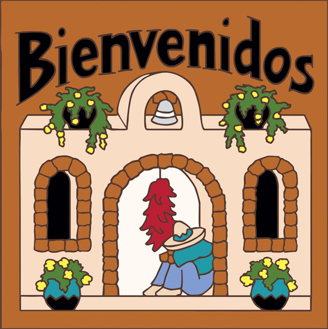 Adobe clipart hacienda.  x tile bienvenidos