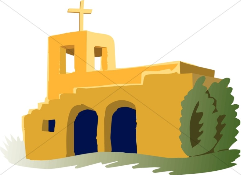 Missions clipart. Adobe mission church