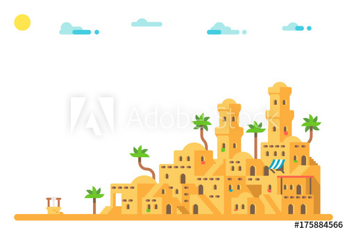 Adobe clipart mud house. Flat design ancient houses
