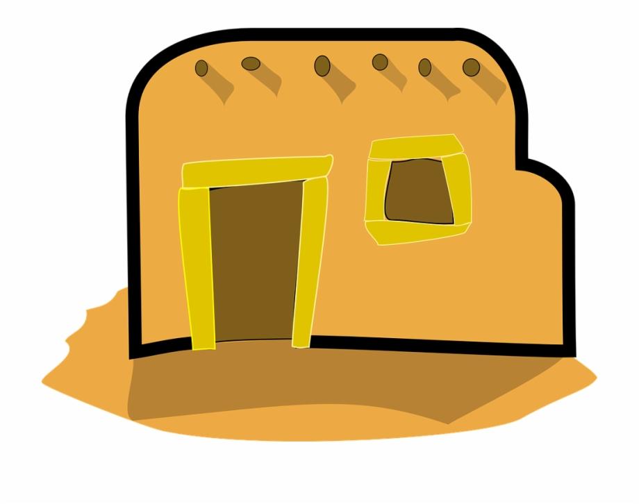 Bricks clip art home. Adobe clipart mud house