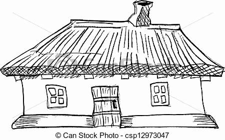 Adobe clipart mud house. Vector illustration little girl