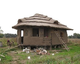 Etsy shelter housing earth. Adobe clipart mud house