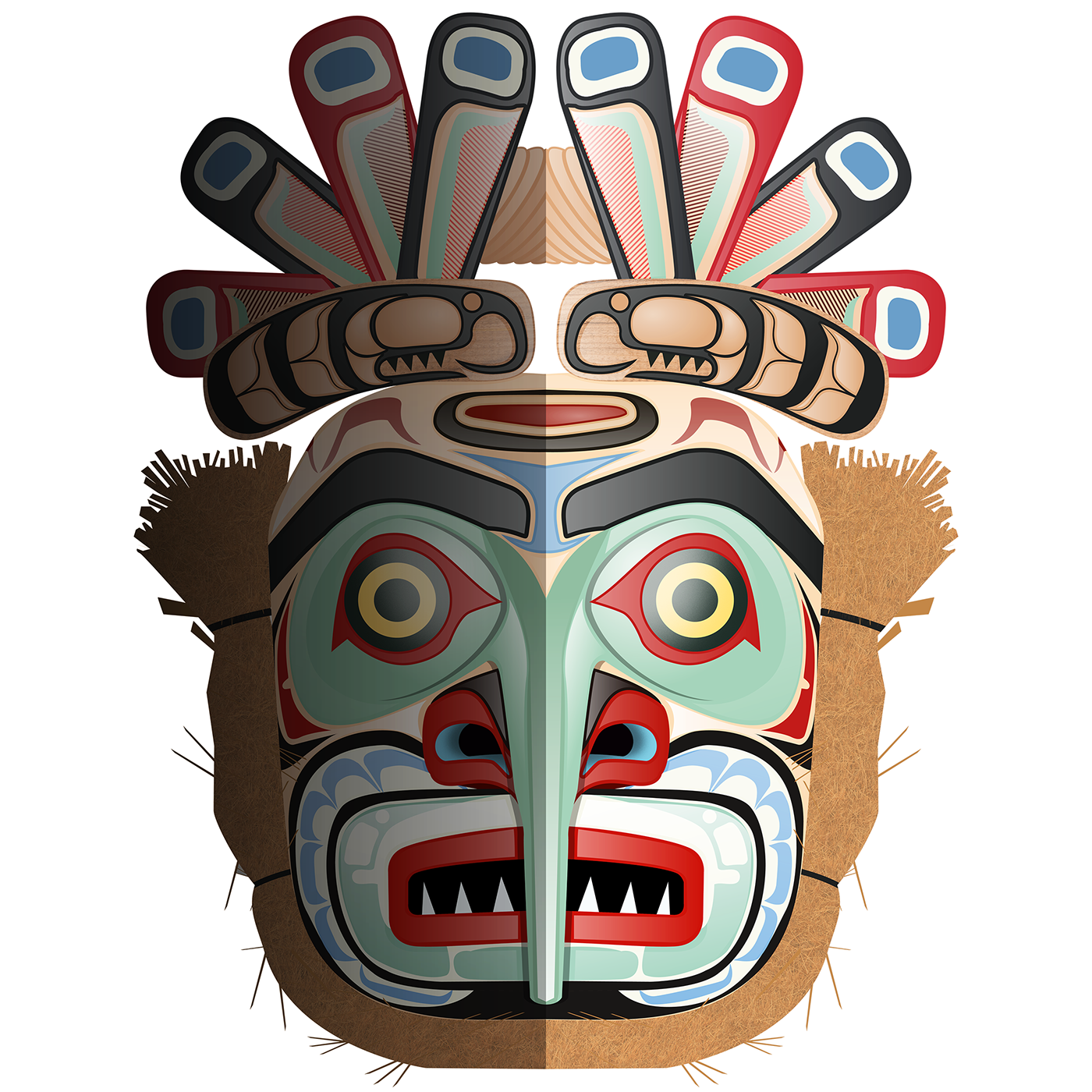 Mask clipart native american. On behance thank you