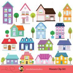 City village vector illustrators. Building clipart town