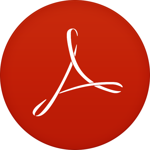 Reader icon circle iconset. Adobe clipart symbol