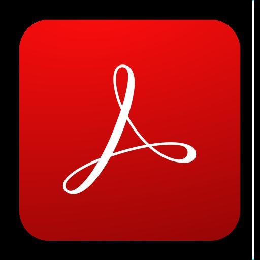 Adobe clipart symbol. Acrobat reader pdf and