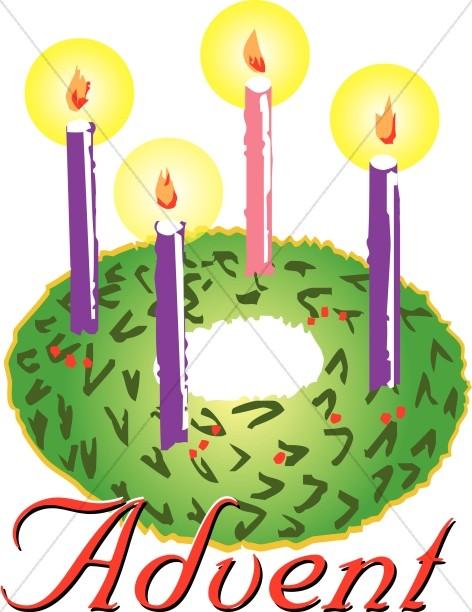 Advent clipart. Wreath