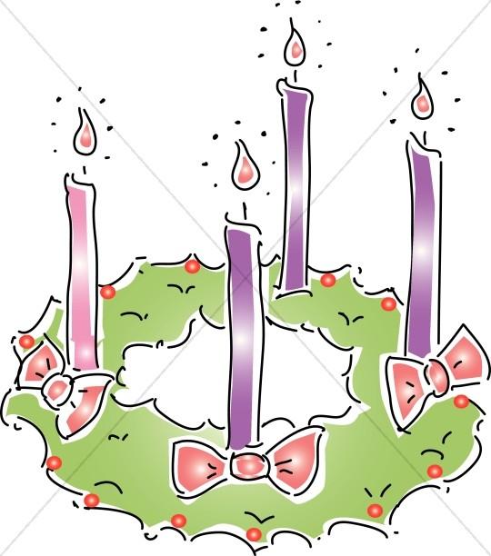 Catholic clipart advent. Wreath christmas