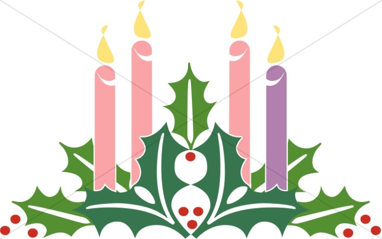 Christmas candles. Advent clipart