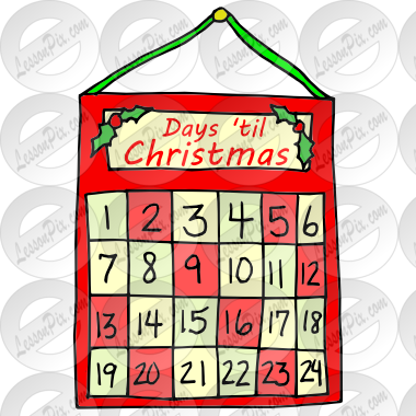 Advent clipart advent calendar. Picture for classroom therapy