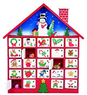 Advent clipart advent calendar. Christmas wooden tree with