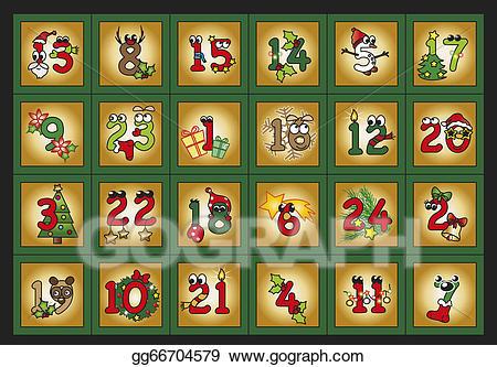 Advent clipart advent calendar. Drawing gg gograph