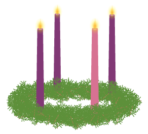 Wreath vector illustration jeff. Advent clipart advent candle