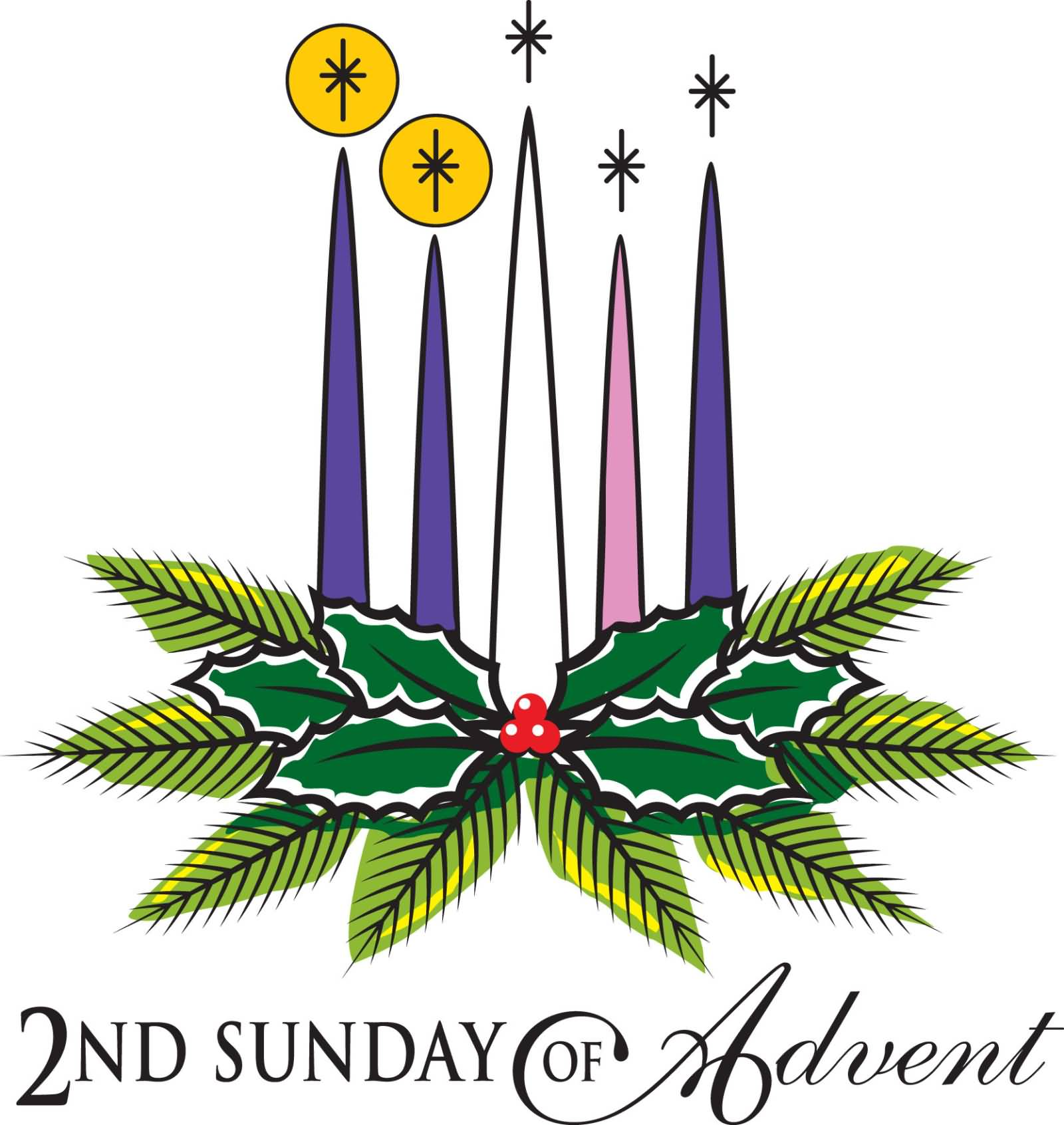 nd sunday of. Advent clipart advent candle