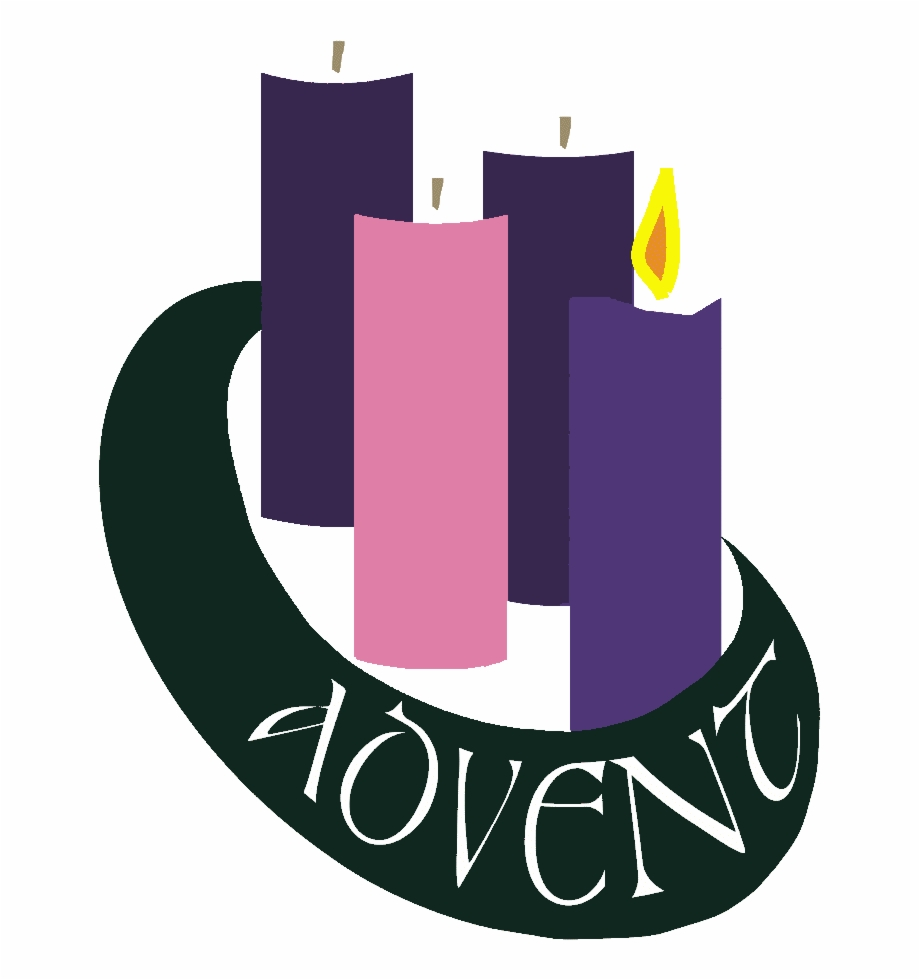 Two candles lit first. Advent clipart advent wreath