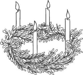 Station. Advent clipart advent wreath