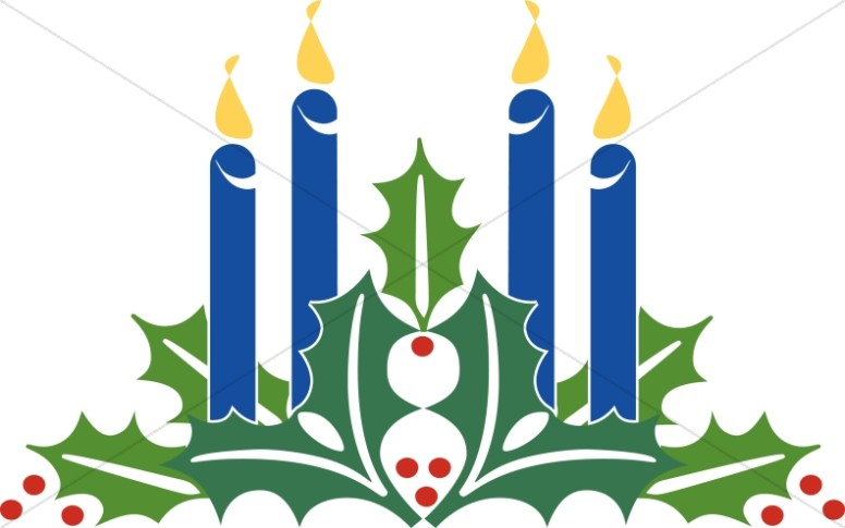 4 clipart candle. Advent candles christmas