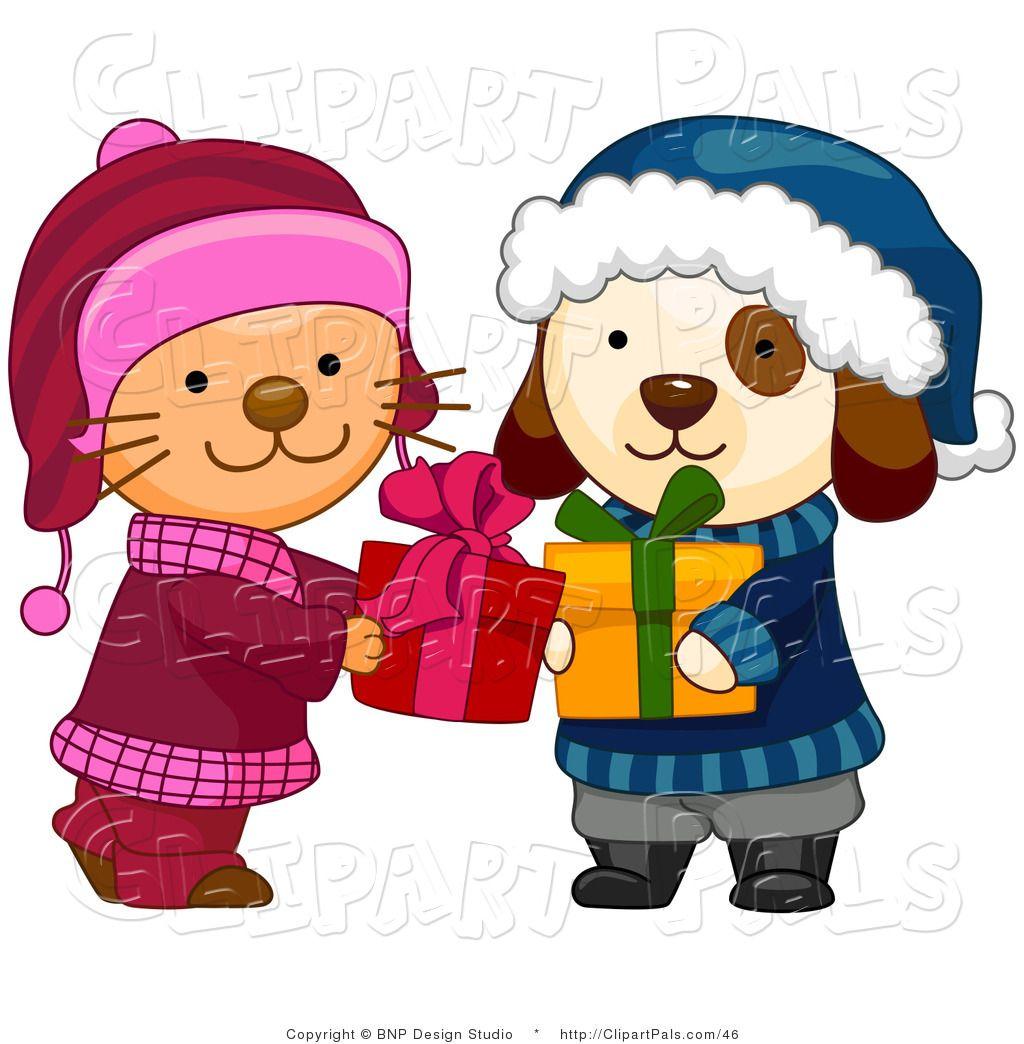 Holiday clip art free. Kittens clipart winter