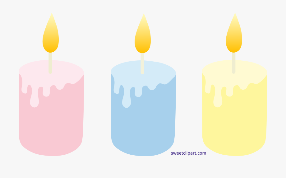 Candles clipart colored. Pastel set free candle