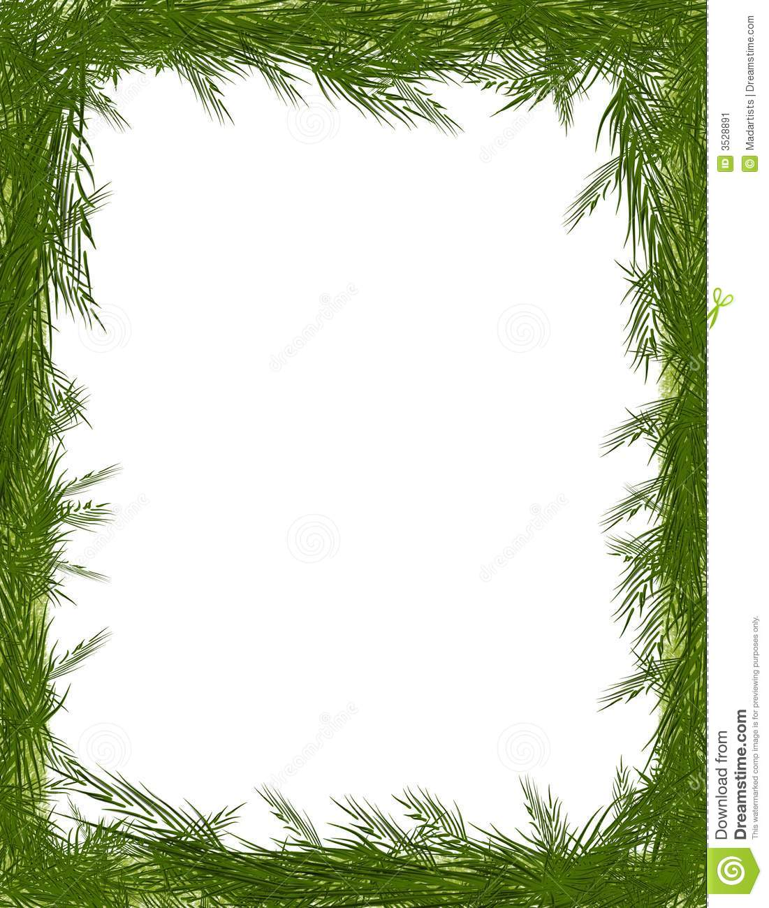 Pine border . Borders clipart tree
