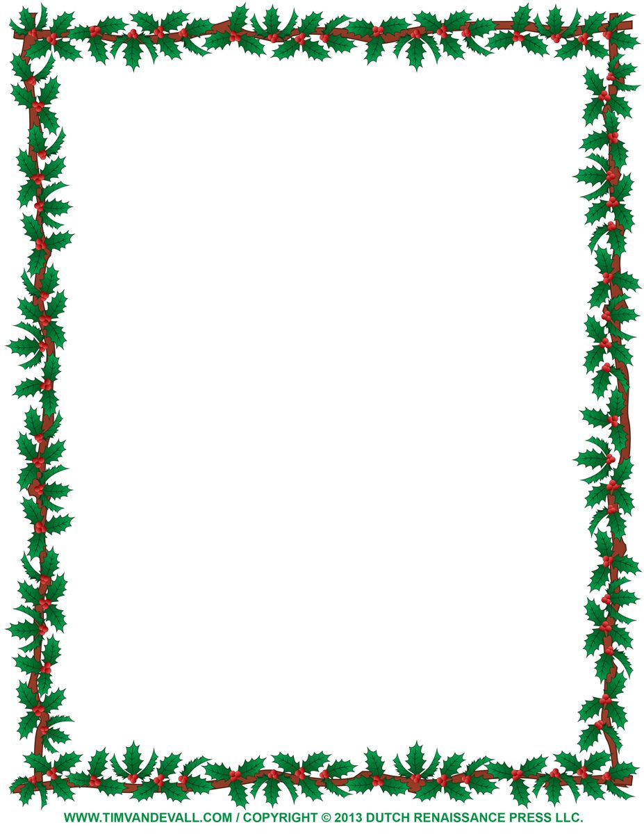 Free borders to print. Clipart christmas boarder