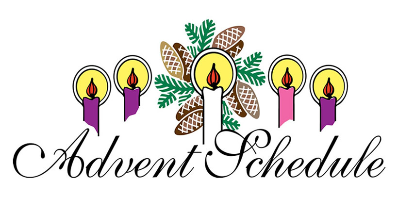 Wreath churchart online schedule. Advent clipart bulletin
