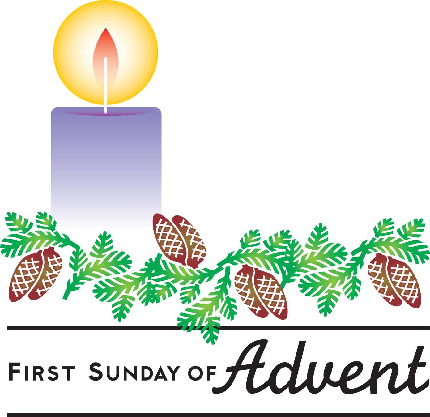 Advent clipart bulletin. First sunday of candle
