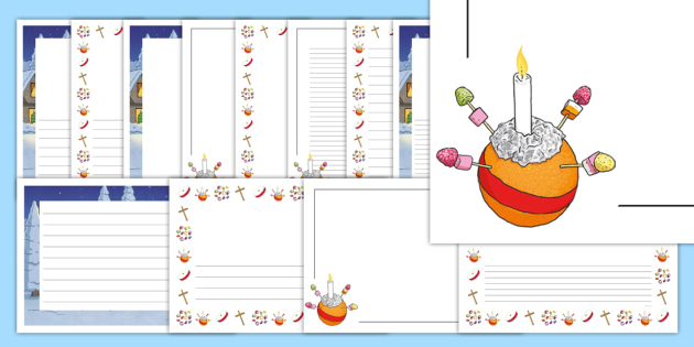 Page border pack sunday. Advent clipart christingle
