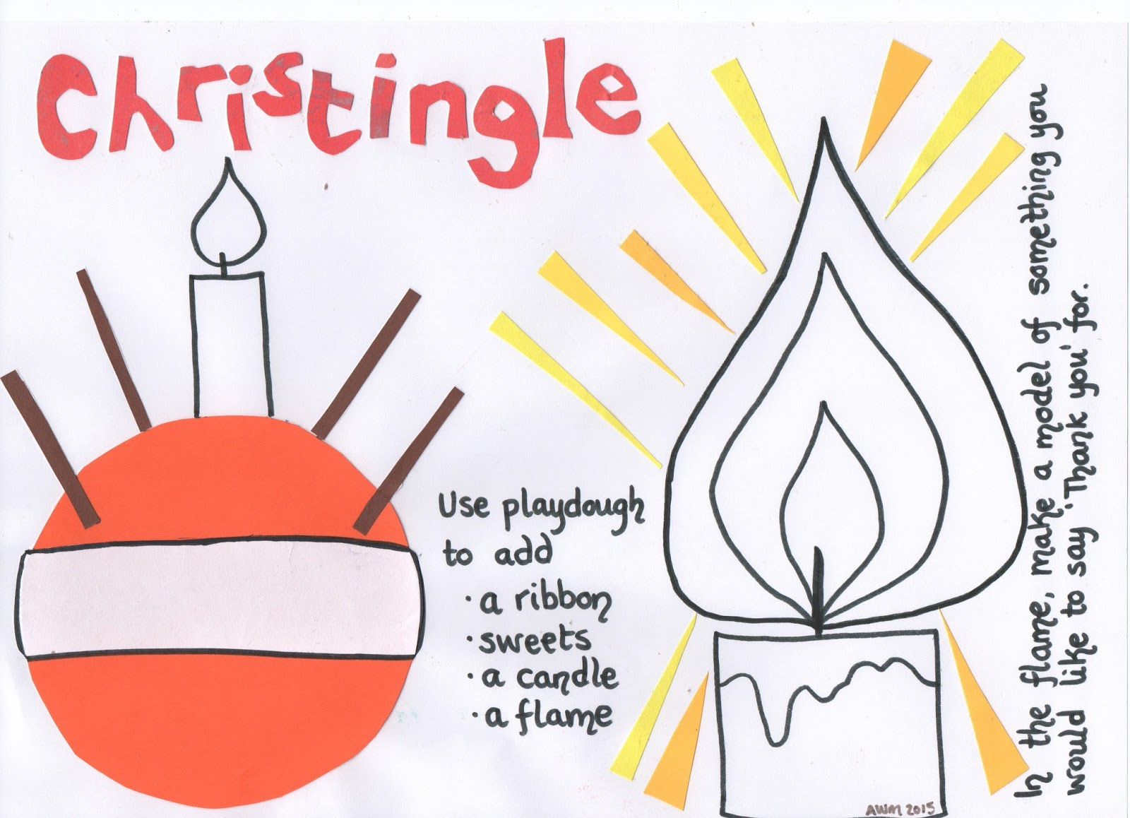 Flame creative children s. Advent clipart christingle