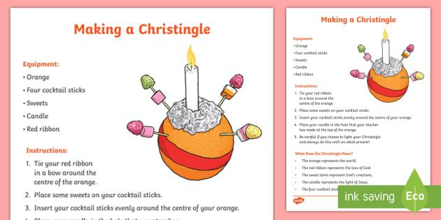 How to make a. Advent clipart christingle