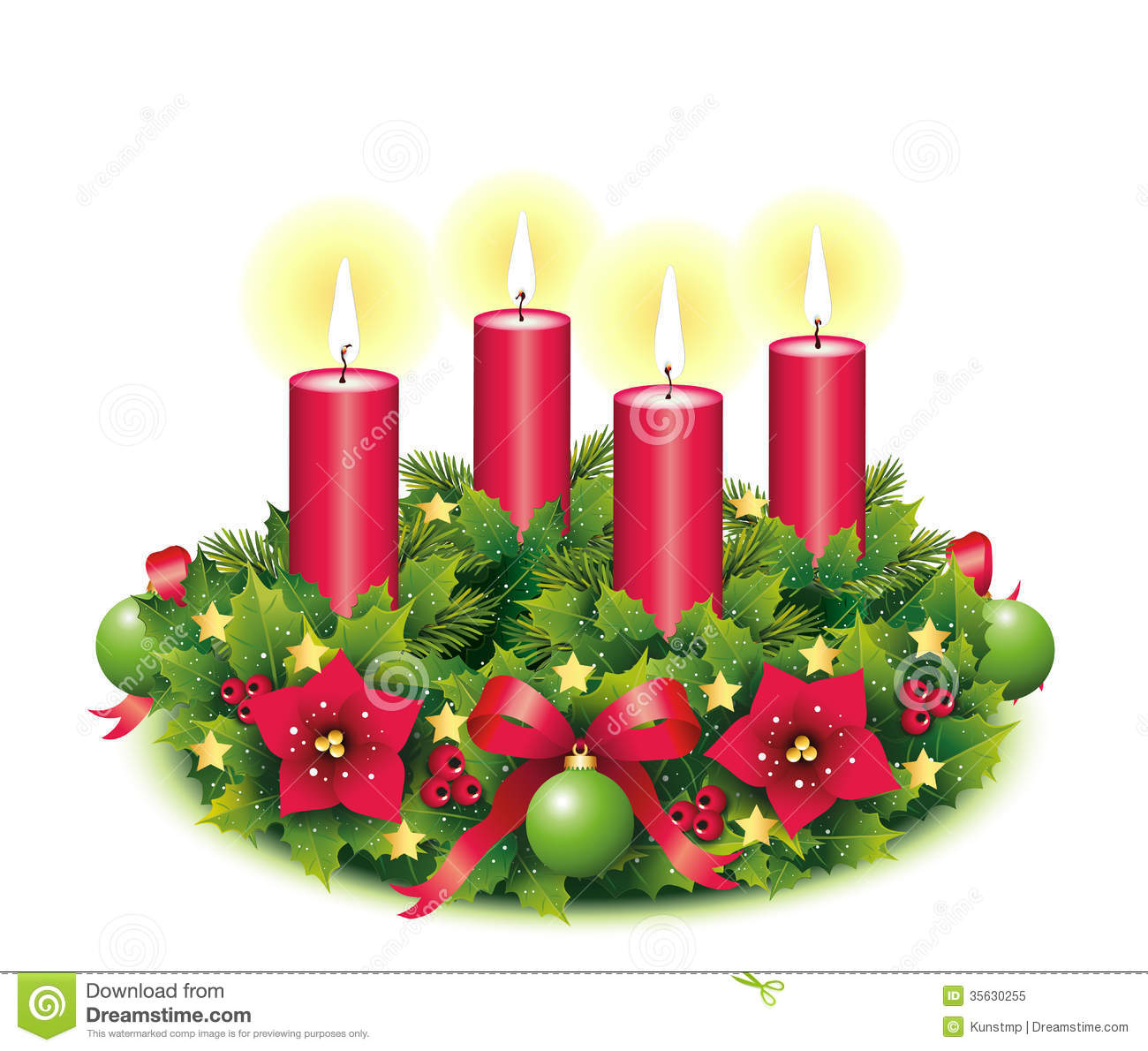 station. Advent clipart four candle