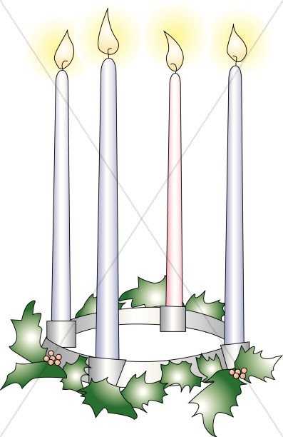 Candles. Advent clipart four candle