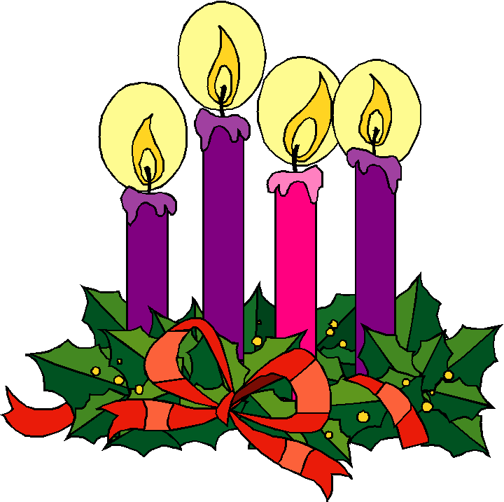 Access simple reflections on. Advent clipart four candle