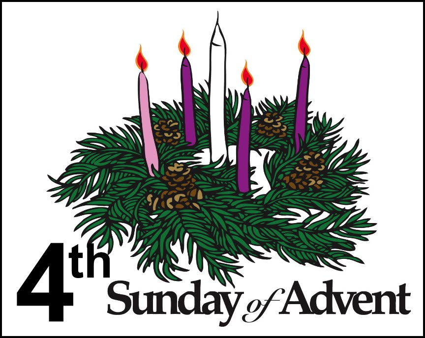 Fourth sunday of candles. Advent clipart four candle