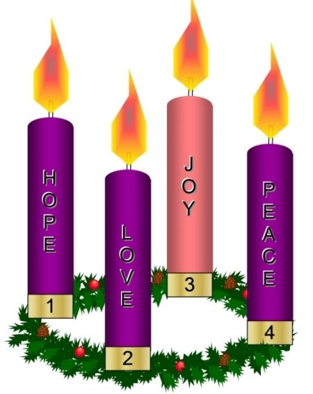 Advent clipart four candle. Wreath a circle of