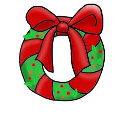 Christmas clip art wreath. Advent clipart happy