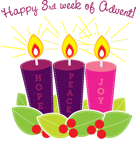 Advent clipart happy. Rd week of pink