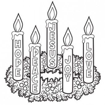Wreath coloring page free. Advent clipart meaning