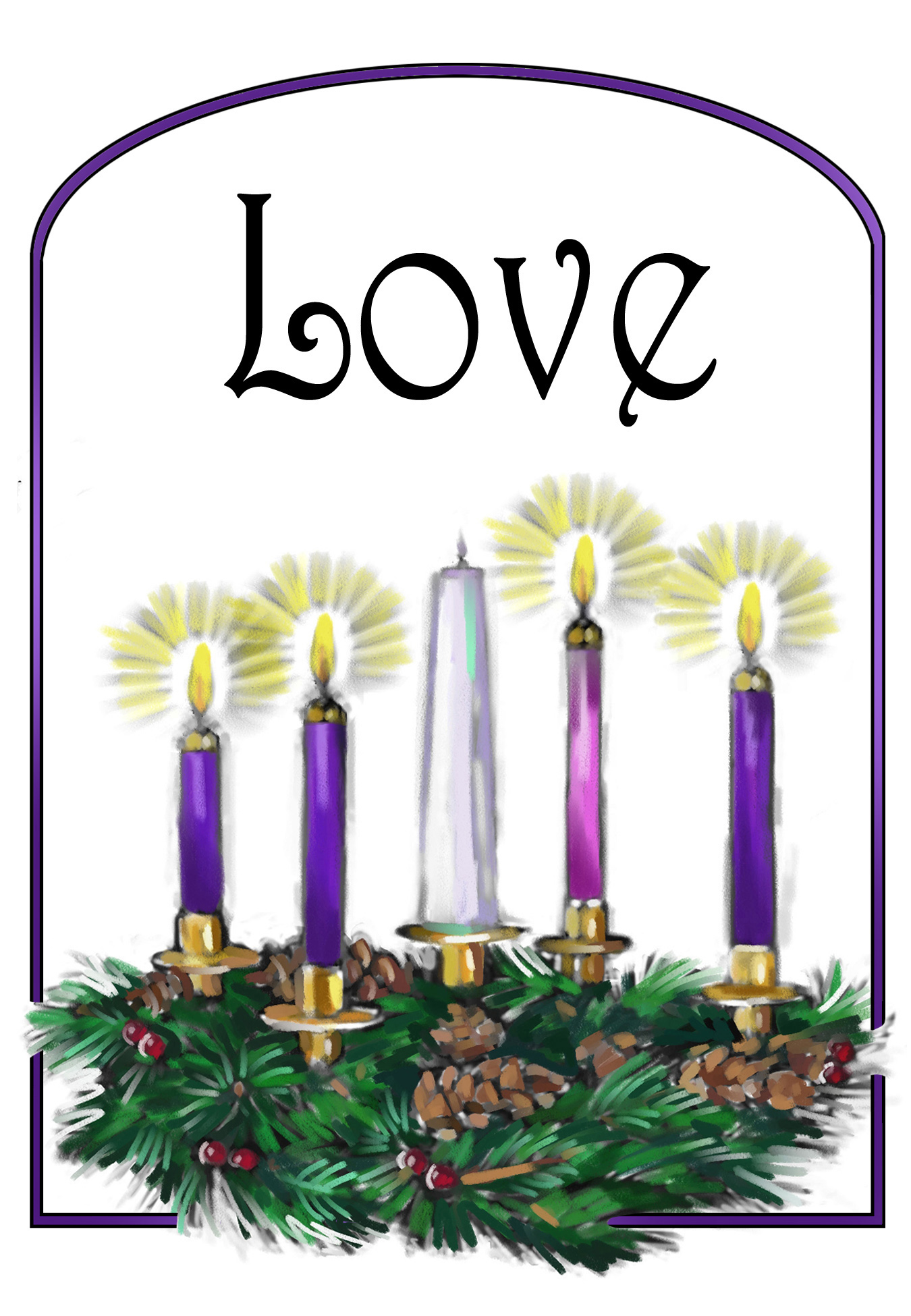 What is gilead presbyterian. Advent clipart one candle lit