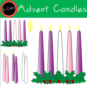 Advent clipart one candle lit. Set pink mary white