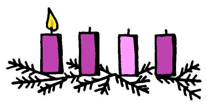 Wreath st ambrose school. Advent clipart one candle lit