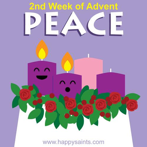 Advent clipart peace. Happy saints nd week
