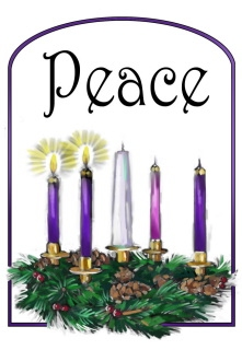 Week two candle of. Advent clipart peace