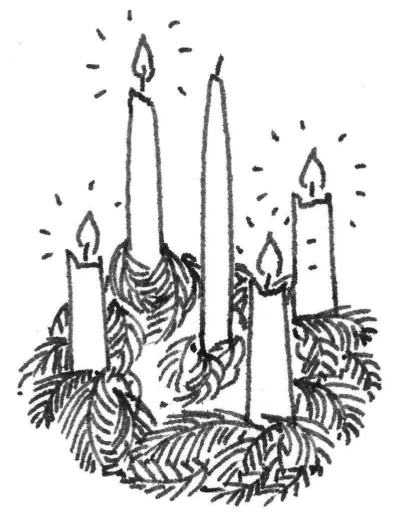 Seasonal reverend ally. Advent clipart ring