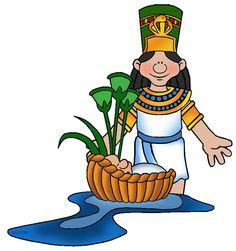 Pharaohs daughter with moses. Advent clipart serpent bible