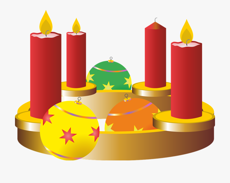 Candle first . Advent clipart third