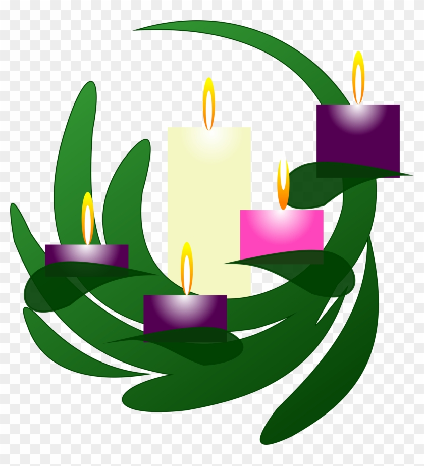 Wreath christmas eve third. Clipart candle advent candle