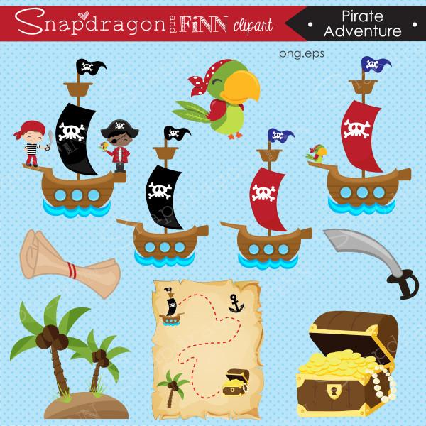 Adventure clipart. Pirate snapdragonandfinn